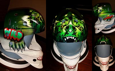 Minnesota Wild bear hockey helmet