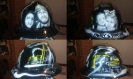custom pipeline hard hat with portraits