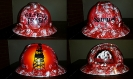 red oilfield trash hard hat