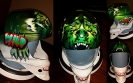 custom painted wild bear hockey helmet