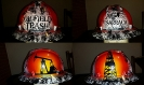 white and black oilfield trash hard hat 1