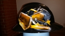 Bulldozer construction themed hard hat