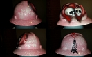 Spoiled oilfield wife hard hat custom painted in pink