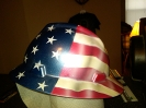 american flag hard hat custom airbrush painted